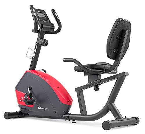 Hop-Sport Liegeergometer HS-035L Solo - Sitz-Heimtrainer für Senioren - Liegefahrrad belastbar bis 135kg - liegend Fahrradtrainer für zuhause rot