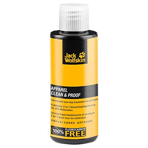 Jack Wolfskin Unisex– Erwachsene Apparel CLEAN & Proof 60 Wasch- und Imprägniermittel, gelb, ONE Size