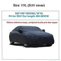 HXKGSMG カーカバーユニバーサルフルカーカバー屋内屋外オートカーカバースノーアイス防水ダストサンUVシェードカバーカーリフレクターYXL-525x190x180