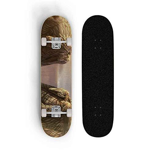 Skwingt Anime Naruto Skateboard, Skateboard Longboards 7 Capas Cubiertas Complete Cruiser Profesional...