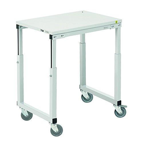 Treston SAP-710 tafelwagen, zonder onderplaat. Stalen frame met gelamineerd tafelblad, grijs, 100 x 70 x 65 cm. Onderplaat apart bestellen.