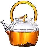 Teeservice Whelsara Teesets mit Teekanne, Glas-Teekanne Wasserkocher Glas-Teekanne Teekannen, Hochtemperaturbeständige elektrische Tasse
