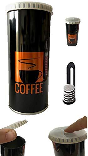 James Premium Luftdichte-Kaffeedose zur Aufbewahrung und CO2-Ventil, hält Kaffee frisch Padheber
