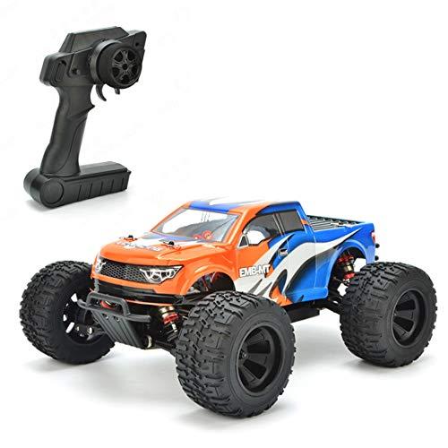 YOUX Coche teledirigido todoterreno LC Racing EMB-MTH 1:14 4 WD 2.4 G 50 km/h, sin escobillas, alta velocidad, todoterreno, escalada eléctrica, RC Auto Monster Desierto Truck - RTR