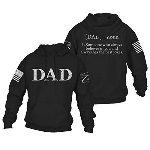 Grunt Style Dad Defined Hoodie (Black, Large)