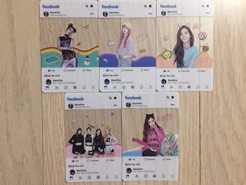 5ピース ブラックピンク Blackpinkフェイスブック Facebook アルバム ロモ カードセット 写真ポストカード Photo Card