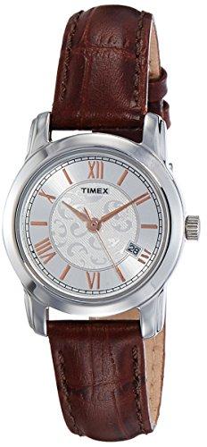Timex - Reloj analógico con esfera blanca para mujer (TWEL11507)