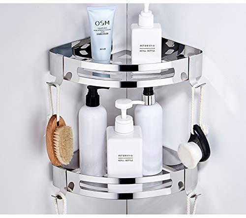 CROSOFMI Duschregal Ohne Bohren, Duschablage zum Hängen für Badezimmer, Edelstahl 304 (Dreieck, 2 Packungen)