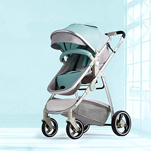 Great Features Of Cozy Baby Stroller Carriage Compact Pram Stroller (Color : Gray) (Color : Green)