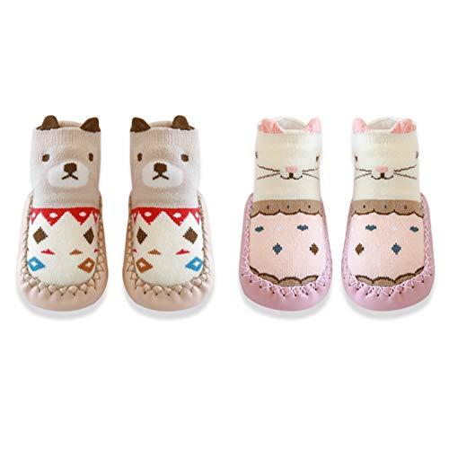 Medias y Calcetines Calcetines de piso, calzado antideslizante, baby otoño / invierno algodón calcetines para niños pequeños, calcetines y zapatillas, calcetines de solación...