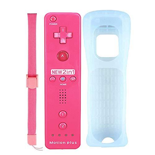 FONCBIEN Mandos a Distancia para Wii , Mando a Distancia De Repuesto con Funda De Silicona y Correa para La Muñeca para Nintendo Wii y Wii U