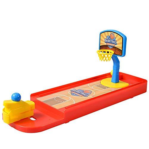 Tischspiel Mini Finger Schießen Basketball Spielzeug Kinder Puzzle Interaktive Desktop Spielzeug Kinder Miniatur Basketball Tisch Spiel Familienspaß Spiel ( Farbe : Rot , Größe : 13.4''*3.9''*5.5'' )