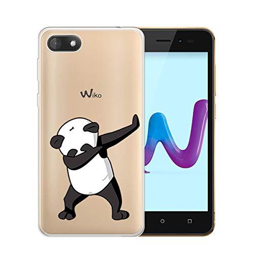 """HYMY Wiko Sunny 3 Transparent Hülle Case - Kung Fu Panda Schutzhülle Weich TPU Handytasche Handyhülle Durchsichtig Klar Silikon Handyfall für Wiko Sunny 3 (5.0"""")-wm165"""