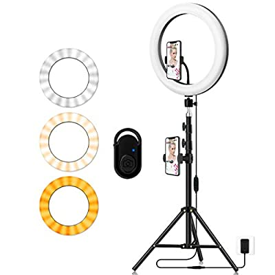 Photography Ring Light with Tripod Holder: Yingnuost 14-inch Dimmable LED Circle Lamp with Phone Holder & vlogging Camera Tripod Stand for Makeup | Streaming Live | YouTube TIK Tok Video Recording by YingnuoST