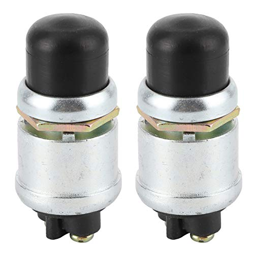 Interruptor de arranque del motor de bocina de 2 piezas SPST Botón de arranque impermeable 50A 12V para coche barco