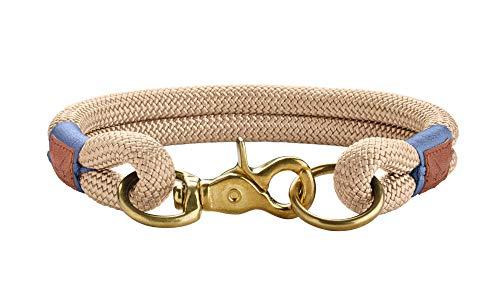 HUNTER Sansibar Rantum Halsung, Hundehalsband, Tau, modern, nautisch, 50 (M-L), beige