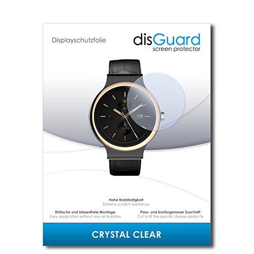 disGuard Displayschutzfolie für ZTE Axon Watch [2 Stück] Crystal Clear, Kristall-klar, Unsichtbar, Extrem Kratzfest - Displayschutz, Schutzfolie, Glasfolie, Panzerfolie