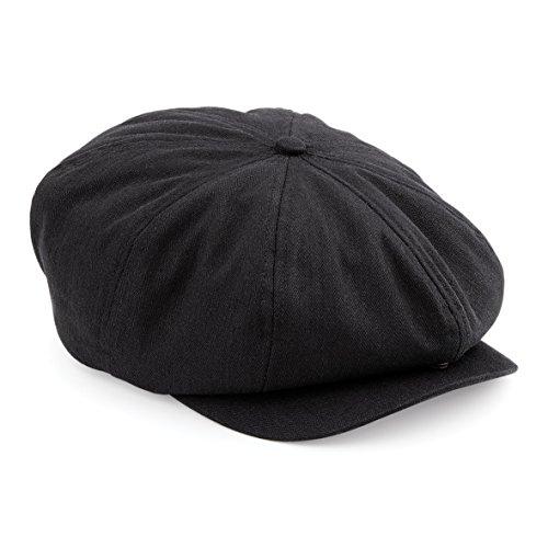 Beechfield BC624 Newsboy Cap - Black - LXL