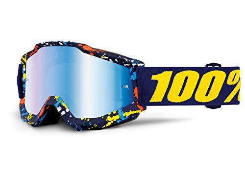 100% Accuri Extra Motocross Brille Blau/Orange/Weiß