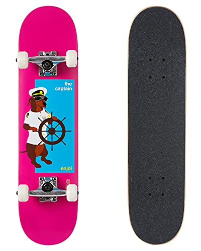 """Enjoi The Captain Youth FP Skateboard Complete - Pink - 7.25"""""""