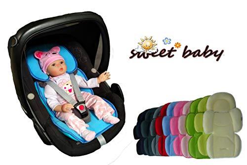 Auto-Sitzverkleinerer / NeugeborenenEinsatz ** 2in1 SOFTY MAXI ** Sommer- und Winterseite (Hellgrau)