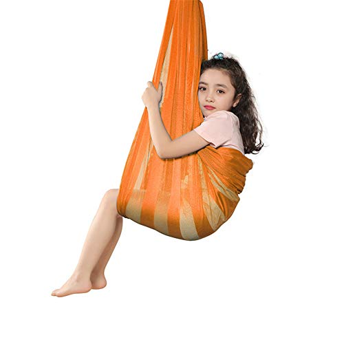 POHOVE Indoor therapy swing for children, Adjustable Therapy Swing Mesh Cloth Kids Hammock Indoor Outdoor ADHD Ultra Soft.26 x 20 x 10cm