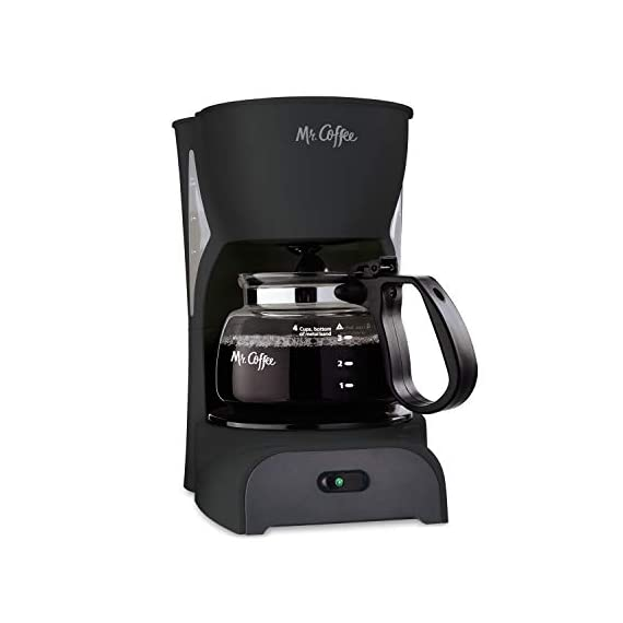 Mr. Coffee Simple Brew Coffee Maker|4 Cup Coffee Machine|Drip Coffee Maker, Black 1 Imported
