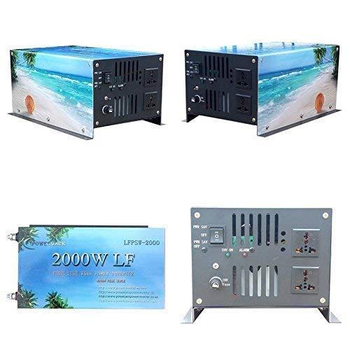 Plusenergy wccsolar Inversor 2000W 12V to AC 230V Pure Power Inverter Converter Onda Pura Convertidor 12v