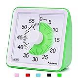 Ainowes Minuteur visuel, compte à rebours silencieux de 60 minutes pour enfants et adultes, outil de gestion du temps pour cuisine, salle de classe, auto-étude, pas de tic-tac fort (vert)