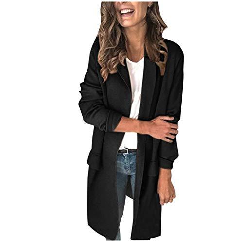 WUAI-Women Plus Size Blazers Long Open Front Work Office...