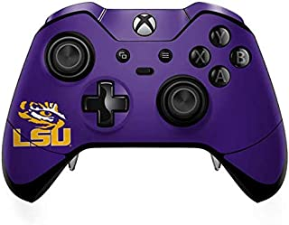 Skinit Decal Gaming Skin for Xbox One Elite Controller - Officially Licensed College LSU Tiger Eye Purple Design