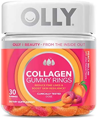 OLLY Collagen Gummy Rings 2 5g of Clinically Tested Collagen Boost Skin Elasticity Reduce Wrinkles product image