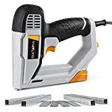 Brad Nailer, BATAVIA 2 in 1 Electric Nail Gun/Staple Gun for Home Upholstery Carpentry and Woodworking Projects Including 200pcs 5/8'' 18 Gauge Brad Nails and 336pcs 3/8' T50 Staples