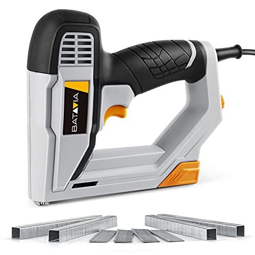 Brad Nailer, BATAVIA 2 in 1 Electric Nail Gun/Staple Gun for Home Upholstery Carpentry and...