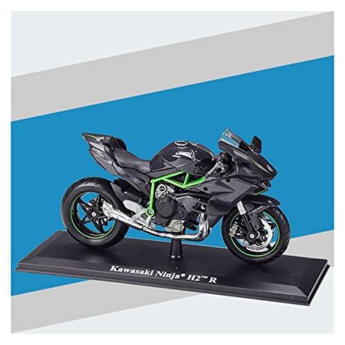 El Maquetas Coche Motocross Fantastico Modelo De Motocicleta Fundición A Presión De Simulación 1:12 En Miniatura Para Kawasaki H2R Colección Adultos Regalo Coche De Juguete Metal Regalos Juegos Mas Ve