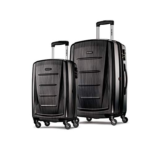 Samsonite Winfield 2 Hardside Expandable Luggage with Spinner Wheels, Brushed Anthracite, 2-Piece Set (20/28)