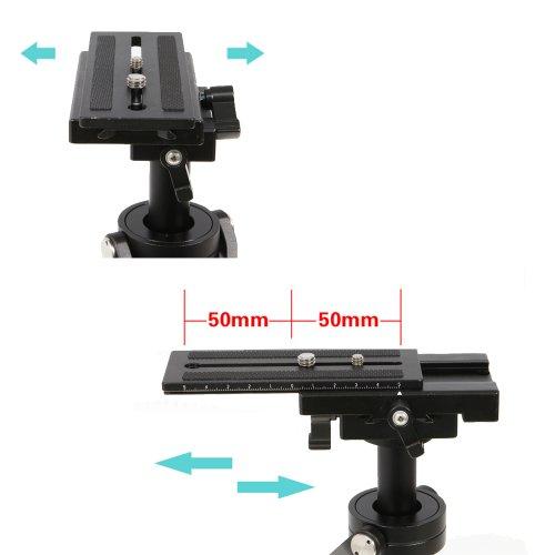 """TARION S60T Schwebestativ Kohlefaser 60cm mit Schnellwechselplatte 1/4"""" und 3/8"""" Gewinde für Kameras bis zu 3Kg"""