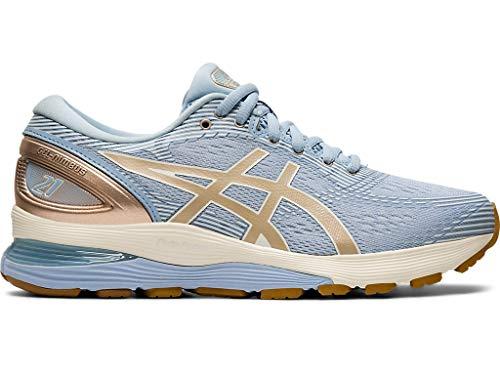 ASICS Women's Gel-Nimbus 21 Running Shoes, 11M, Mist/Frosted Almond