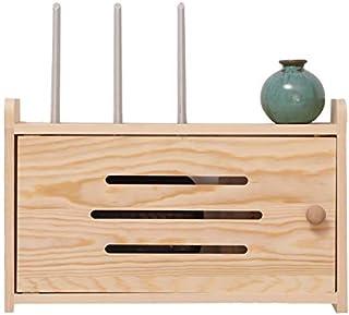 Casiers, étagères et tiroirs Petite Commode Routeur en Bois Organisateur 8 Cubes Support De Boîte De Rangement pour Routeu...