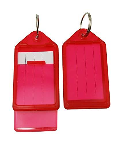 Wuuycoky Key Fobs Luggage ID tag con portachiavi 5,6x 2,8cm colore opzionale
