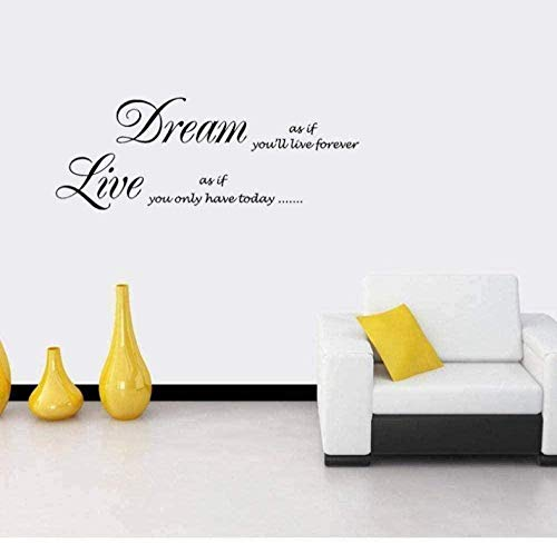 Stickers muraux 75 CM * 27,6 CM Love Decals Inspirational Saying Creative stickers muraux salon chambre enfants chambre bureau art autocollants