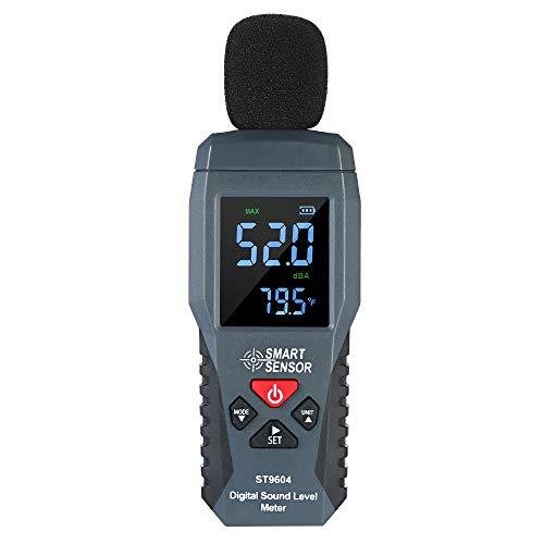Leepesx SMART SENSOR Mini fonometro digitale Display LCD Misuratore di rumore Strumento di misurazione del rumore Decibel Tester 30-130dBA ST9604