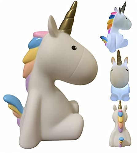 Lámpara nocturna LED con diseño de unicornio - luz de color blanco para niños bebés - unicornio blanco -luz para dormir