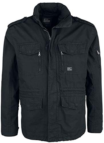 Vintage Industries Cranford Jacket Tussenseizoensjas zwart S 100% katoen Basics