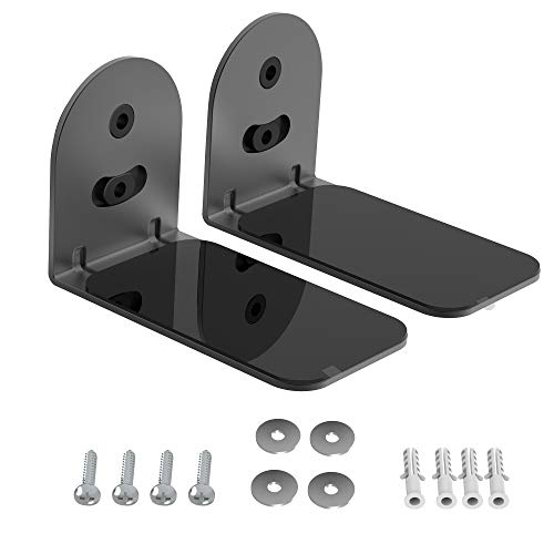 PlusAcc Soporte para Barra de Sonido Compatible con Bose TV Speaker, JBL Bar, Sonos, Samsung, Majority, Sound Bar Soportes de Montaje en Pared con Kit de Hardware