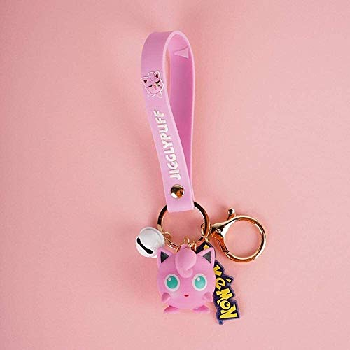 BESTSUGER Car Styling Keychain Keychain, female cartoon cute doll key chain pendant, backpack ornaments-F,Colour Name:E Keychain, (Color : D)