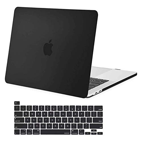 MOSISO MacBook Pro 16 inch Case 2019 Release A2141 with Touch Bar & Touch ID, Ultra Slim Protective Plastic Hard Shell Case & Keyboard Cover Skin Compatible with MacBook Pro 16 inch, Black