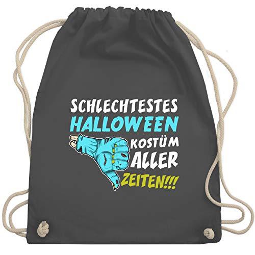 Shirtracer Halloween - Schlechtestes Halloween Kostüm aller Zeiten - Unisize - Dunkelgrau - halloween kostüme - WM110 - Turnbeutel und Stoffbeutel aus Baumwolle