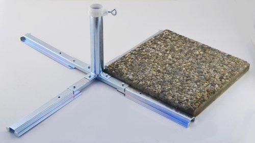 Platten - schirmständer - aus 4 mm Ø DEUTSCHEM STAHL - BIS 55 mm Ø -GALVANISCH VERZINKTER SCHIRM PLATTENSTÄNDER STABIELO aus Metall für GROSSSCHIRME zum Einlegen von BETONPLATTEN - DER STABIELO ® SONNENSCHIRM PLATTENSTÄNDER für Schirmstöcke bis Ø 55 mm - MADE in GERMANY - Sonnenschirmhalter - HOLLY PRODUKTE STABIELO ® - INNOVATIONEN MADE in GERMANY - holly-sunshade ® - PREISE SO LANGE VORRAT REICHT - LIEFERUNG ohne PLATTEN - PRODUKTE MADE in BADEN WÜRTTEMBERG -