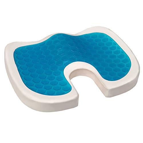 Leader Accessories Gel Enhanced Memory Foam Seat Cushion for Office Chair, Coccyx Cushion for Tailbone Pain, Pressure Relief